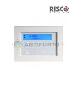 Tastiera touch screen, colore Bianco, con lettore di prossimità integrato-Risco RP128KPP200A