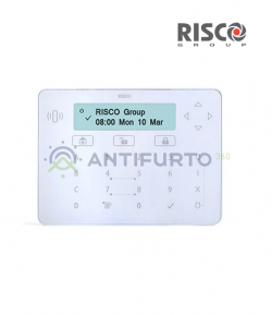 Tastiera Risco Prosys touchscreen ELEGANT colore bianco - Risco RPKEL0WT000A