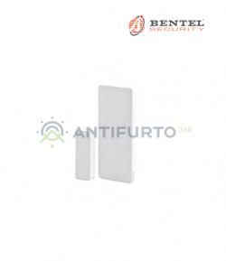 Contatto magnetico wireless a scomparsa - bianco - Bentel BW-MVC