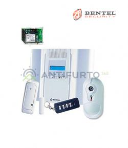 Kit allarme Centrale wireless 64 zone con radiochiave, contatto magnetico, rilevatore, comunicatore - Bentel BW64-KV