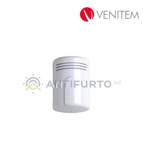 Sirena piezoelettrica da interno 13.8 Vdc, colore bianco-Venitem MINIDOGE