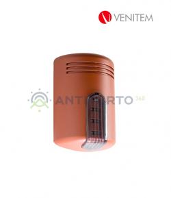 Sirena autoalimentata a 13.8 Vdc con lampeggiante a led DOGE/LS, colore rosso mattone-Venitem SED2000ROF
