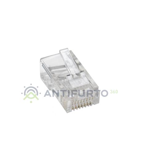Plug RJ45 UTP per cavo rigido- Accessori TVCC PLUGJG45