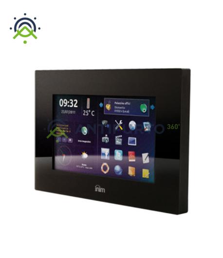 Dispositivo multimediale controllo domotico dei sistemi SmartLiving, colore nero-Inim Evolution/SN