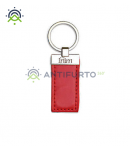 Tag in pelle, colore rosso-Inim nBoss-R