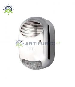 Sirena autoalimentata per esterno, con antischiuma ed effetto metallo-Inim IVY-FM