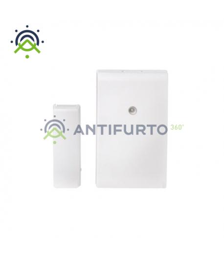 Contatto magnetico radio in contenitore bianco, con rivelatore d'urti e inclinazione-Inim Air2-MC200/B