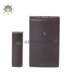 Contatto magnetico radio in contenitore marrone, con rivelatore d'urti e inclinazione-Inim Air2-MC200/M