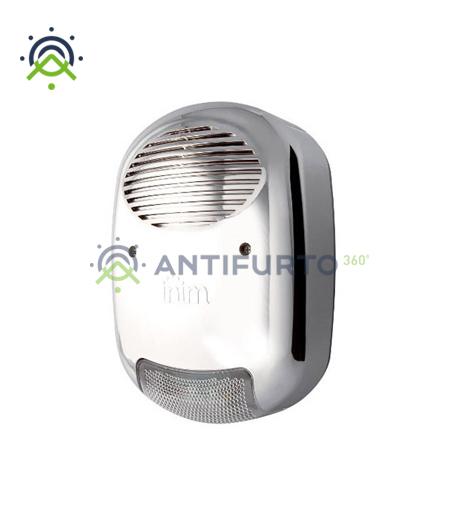 Sirena radio bidirezionale esterno, effetto metallo e batteria per interfaccia-Inim Air2-Hedera