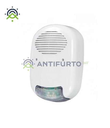 Sirena radio bidirezionale per esterno con batteria per interfaccia-Inim Air2-Hedera