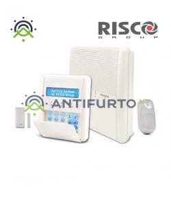 Kit allarme Risco Agility 3 con centrale allarme PSTN, tastiera LCD, PIR monodirezionale - Risco RW132A247A0D