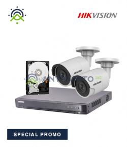 Kit videosorveglianza 4K 4 canali Hikvision - Registratore DVR, telecamera 4K e hard disk 1TB
