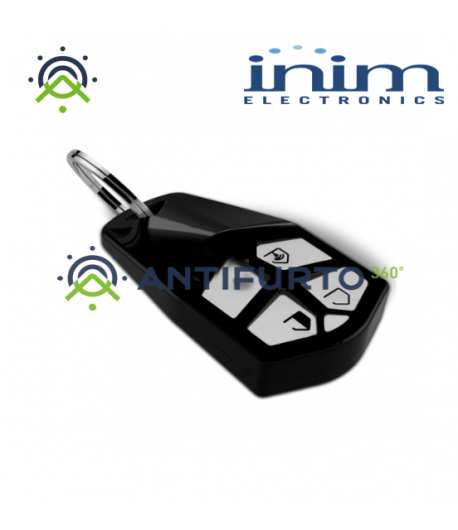 Radiochiave bidirezionale a 4 pulsanti dal design ergonomico -Inim Air2-KF Ergo/N