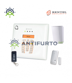 Kit allarme centrale Wireless radio a 30 zone, radiochiave, contatto magnetico e rilevatore - Bentel BW30-K