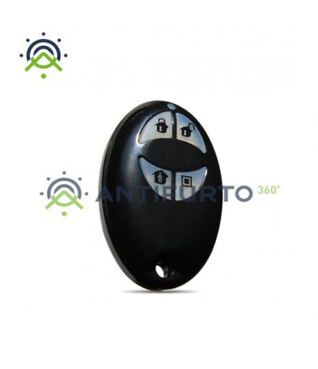 Radiochiave bidirezionale a 4 pulsanti dal design ergonomico -Inim AIR2-KF100