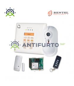 Kit allarme casa wireless con centrale 30 zone, chiave, contatto magnetico, sensore e modulo - Bentel BW30-KV
