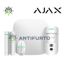 20294 STARTERKIT CAMplus KIT W - kit Centrale con 1 HUB2 PLUS W+1 DOORPROTECT W+1 MOTIONCAM W+SPACECONTROL W - Bianco -  Ajax