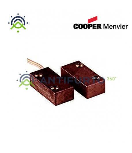 Contatto magnetico Marrone in alluminio con terminali a filo - Menvier Cooper CSA 403APM