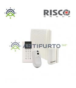 Kit allarme Risco Agility 4 con centrale allarme PSTN GSM IP, tastiera PANDA, PIR CAM, E TRASMETTITORE - Risco RW132A8J4A0E