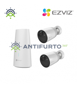 BC1-B2 Kit 2 Telecamera Bullet Ip 2 Mp + base a batteria -  Ezviz